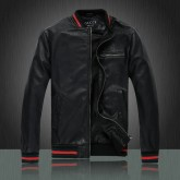 Veste en cuir Gucci collection 2016 France Soldes