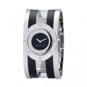 Argent Noir Gucci Montres Collection Tournoyer Grande Version Soldes Paris