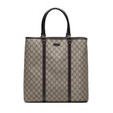 Brun Gucci Fourre-tout Garnitures De Cuir France Magasin