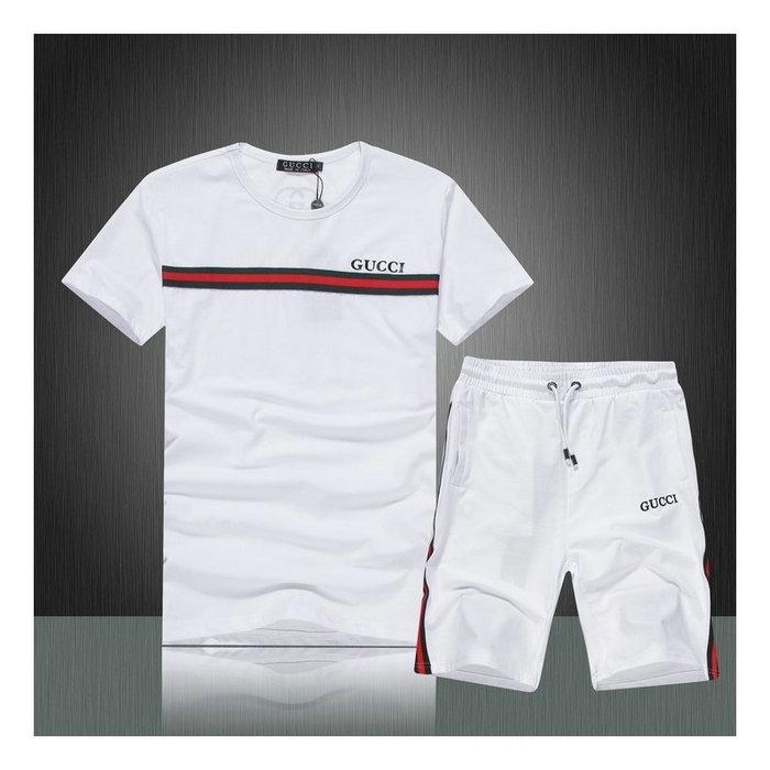 Ensemble short et t-shirt Gucci pour homme Prix France 205f56e636f