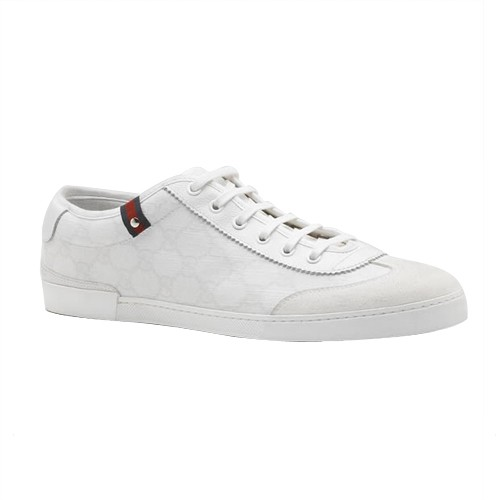 Blanc Gucci Chaussures A Lacets Espadrilles