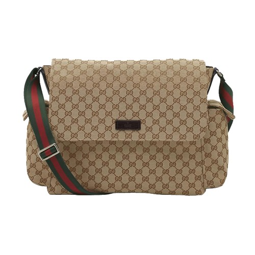 quality products lowest discount 100% top quality Brun Gucci Naissance Et Animal De Compagnie Sac A Langer ...