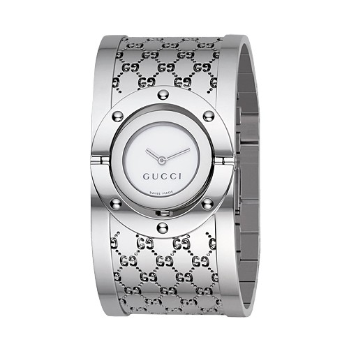 D'Argent Gucci Montres Collection Tournoyer Grande Version