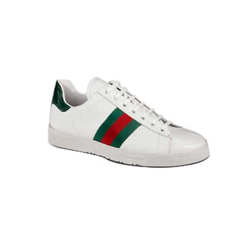 eaa429dcfd6c Blanc Gucci Chaussures A Lacets Espadrilles Avec Signature Web 1 Site  Officiel