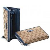 f217f854489 Brun Bleu Gucci Continental Portefeuille Détail Mors Réduction
