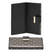 dd9c526b017 Brun Foncé Gucci Continental Porte-Monnaie Avec Le Détail Boutique ...
