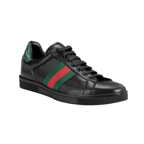 fa972cf9c00 Noir Gucci Chaussures A Lacets Espadrilles Avec Signature Web Site Francais