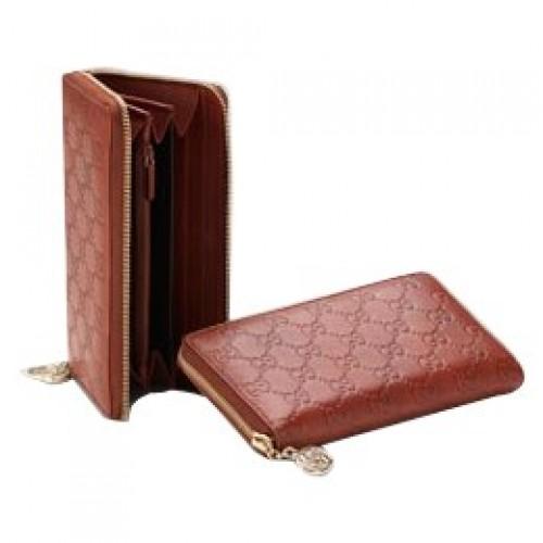 Rouge Gucci Continental Porte Monnaie Avec Verrouillage Charme G